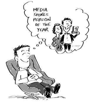 Media Spokesperson of the Year Illustration